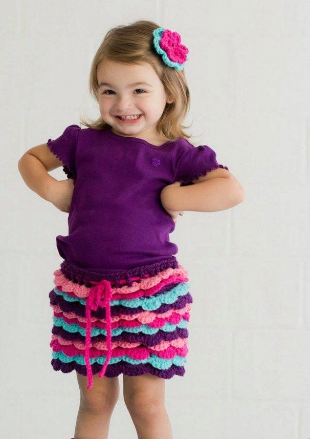 Многоцветная юбка для девочки