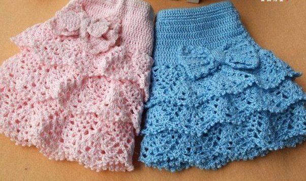 Детские юбки разных цветов