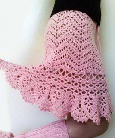 Розовая юбка годе