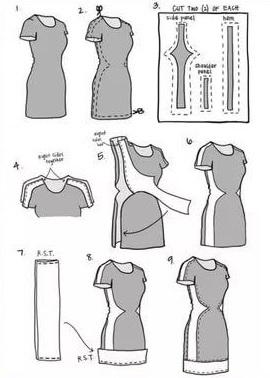 Расширить платье сбоку