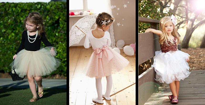 Разные платья с юбками туту