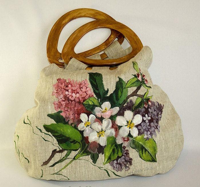 Холщовая сумка роспись