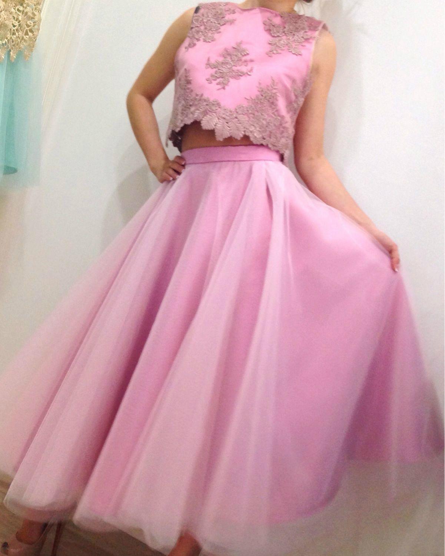 Розовая воздушная юбка