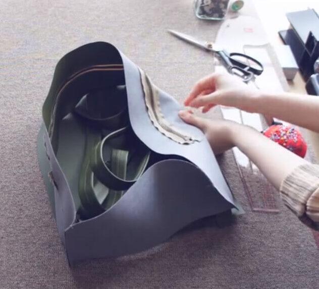 Рюкзак 2 детали сшиваем