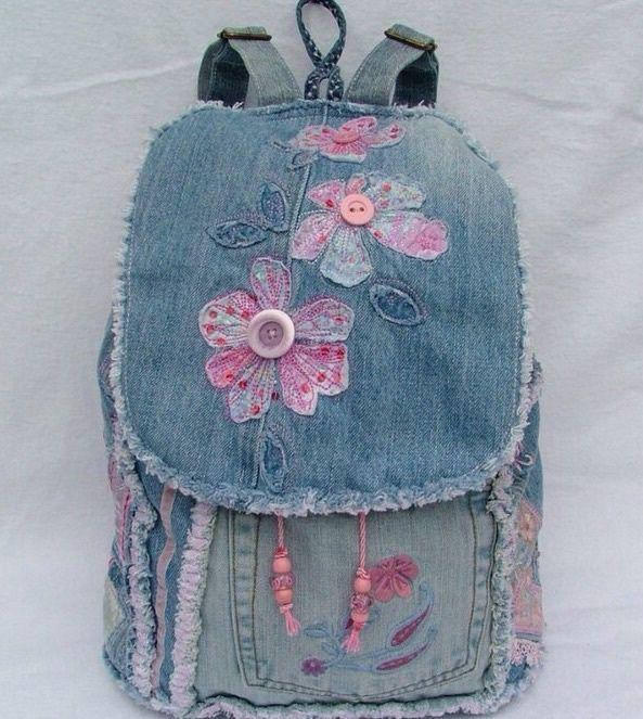 Рюкзак с декором цветами