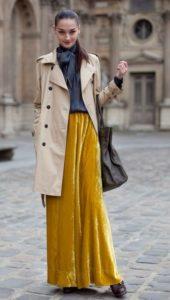 желтая бархатная юбка