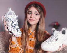 девушка с кроссовками
