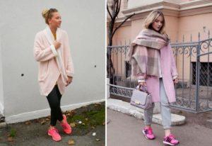 образы с розовыми кроссовками