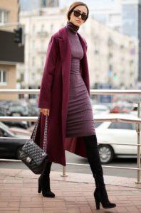 платье с кардиганом