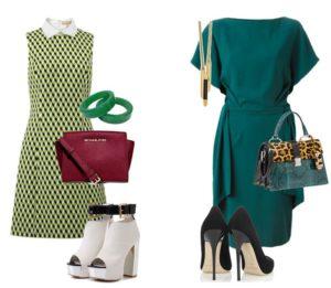 обувь к зеленому платью