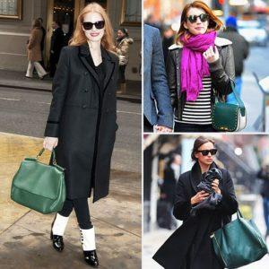 черное с зеленой сумкой