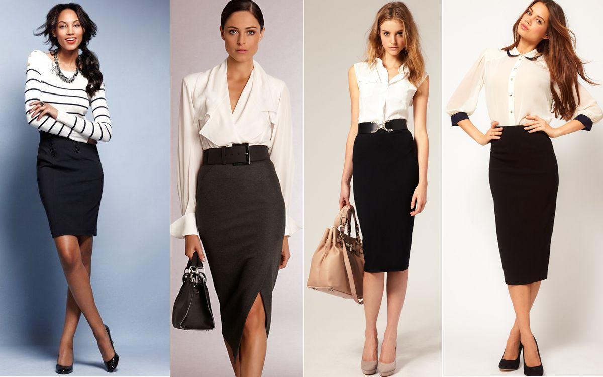 Длинная черная юбка-карандаш 1