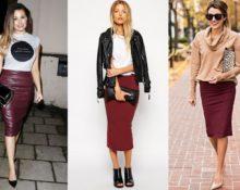 С чем сочетается бордовая юбка карандаш