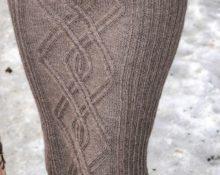 Серая юбка с аранами