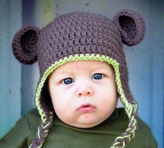 зимняя теплая шапка для мальчика с ушками