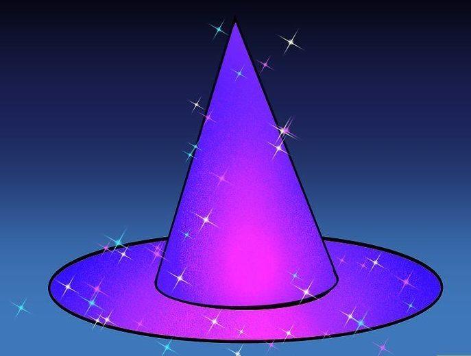 Шляпа волшебника сверкающая