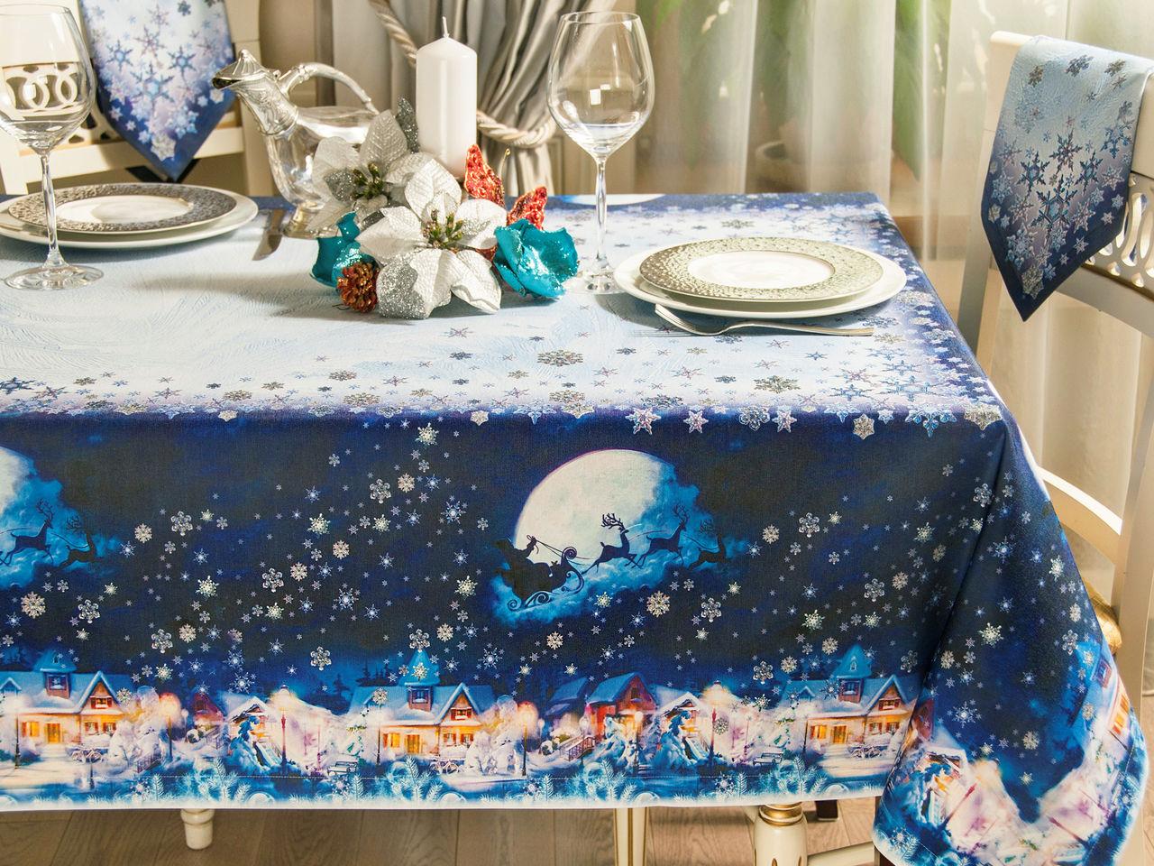 Сине-белый стол