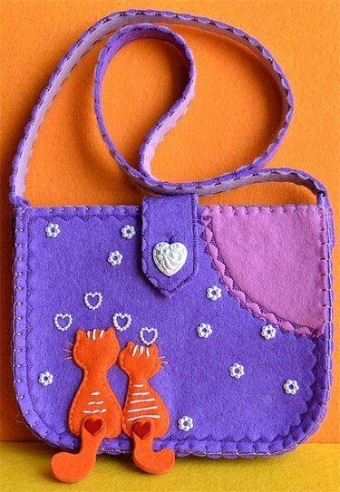 Наплечные сумки из фетра