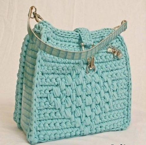 Салатная сумка крючком