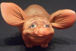 Свинка с чулка