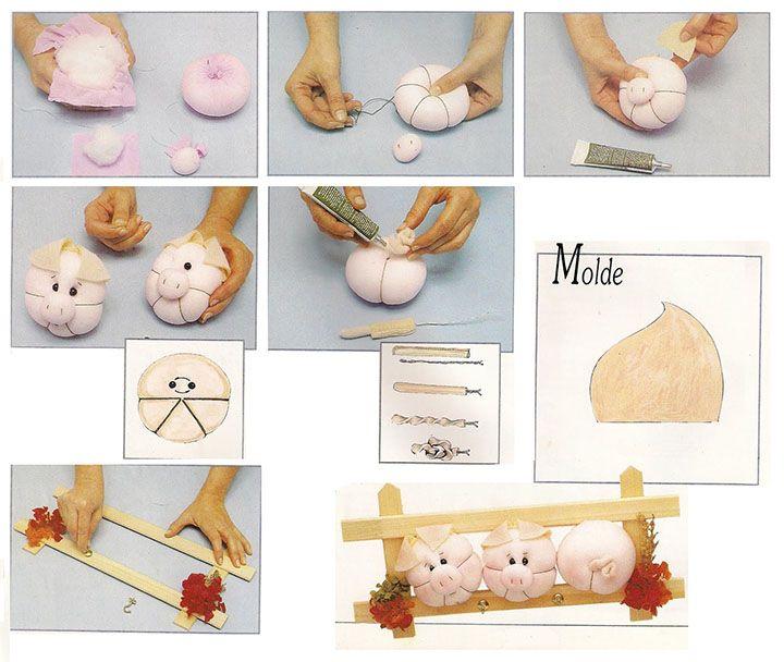 Мастер-класс - свинка из капронового чулка