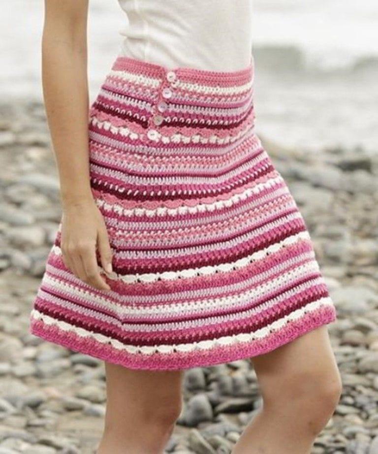 Теплая юбка крючком фото 1