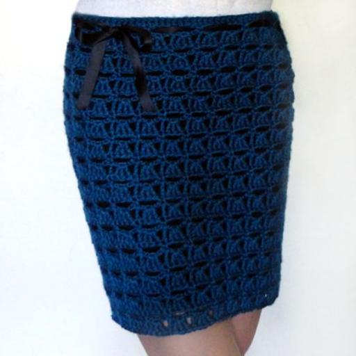 Теплая юбка крючком модель 3