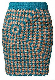 Теплая юбка крючком 6