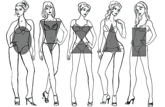 Типы фигур для свадебного платья