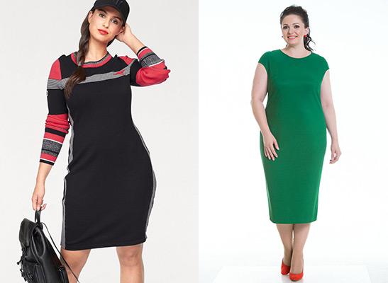 Трикотажные платья цветные