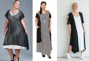 Трикотажные платья 2019 для полных