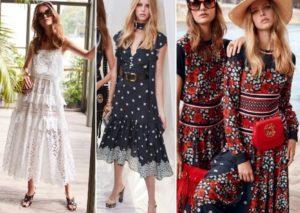 Трикотажные платья лето 2019