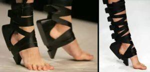 Туфли-ленты