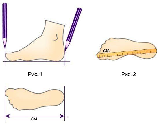 размеры ноги измерить