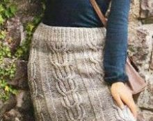 юбка спицами для женщины для зимы