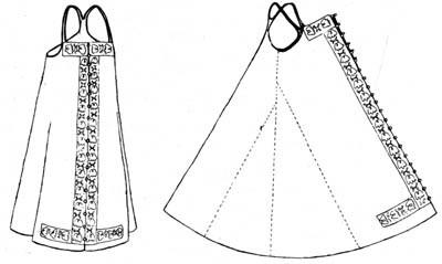 Выкройка русского народного сарафана для девочки