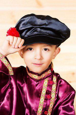 Народный костюм для мальчика с картузом