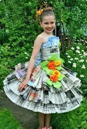 Юбка из газет для девочки