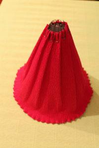 Юбка из гофрированной бумаги для куклы