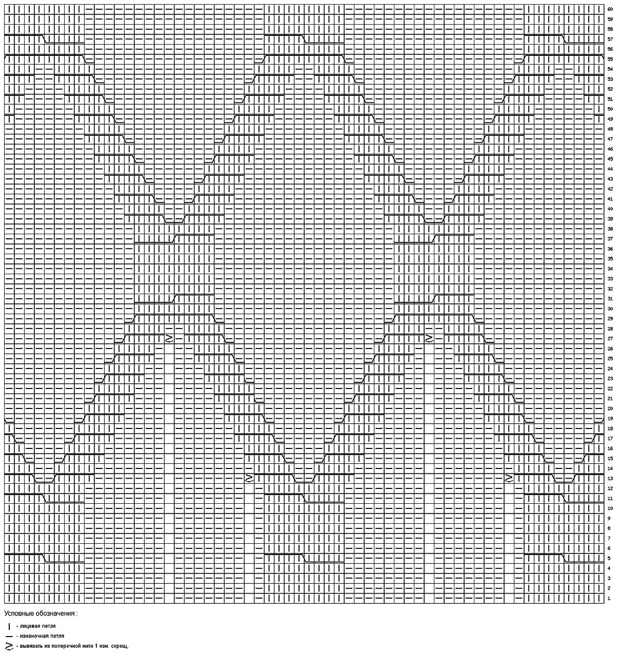 Юбка с аранами схема 3