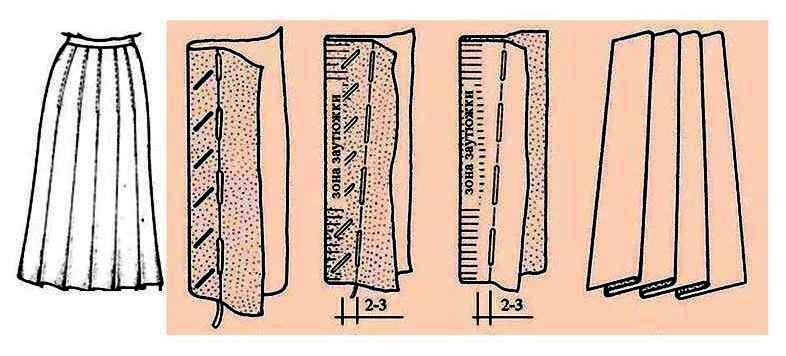 Юбка со складками 8