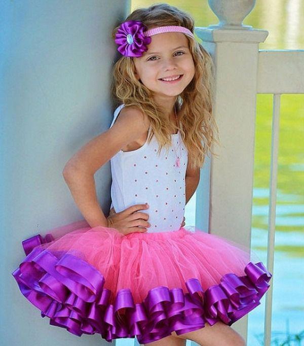 Фиолетовая отделка юбки туту