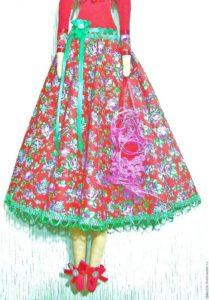 как сделать юбку для куклы