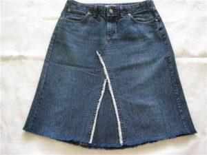 как перешить старые джинсы в юбку