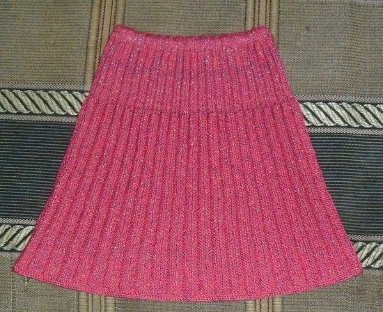 Розовая юбка плиссе