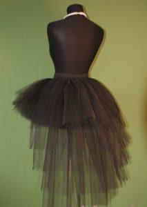 черная юбка с фатиновым шлейфом