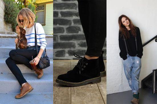 Женские ботинки чукка