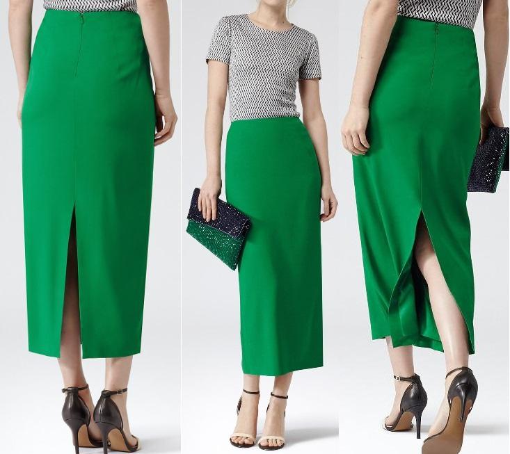 Зеленые юбки-каранадаши