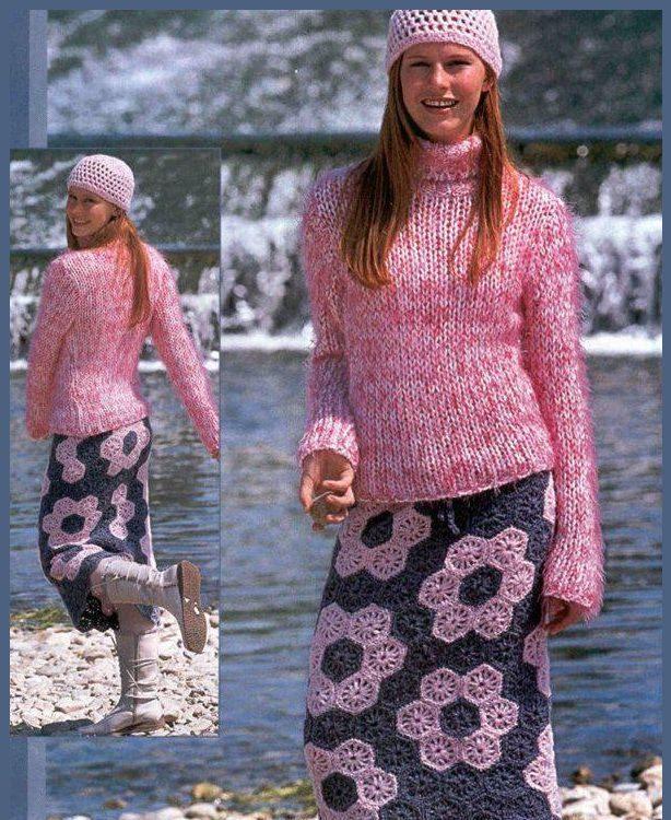 Зимняя юбка 11