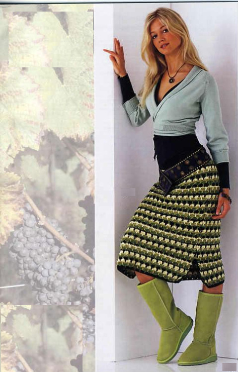 Зимняя юбка модель 2